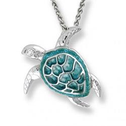 Sterling Silver Sea Turtle Pendant