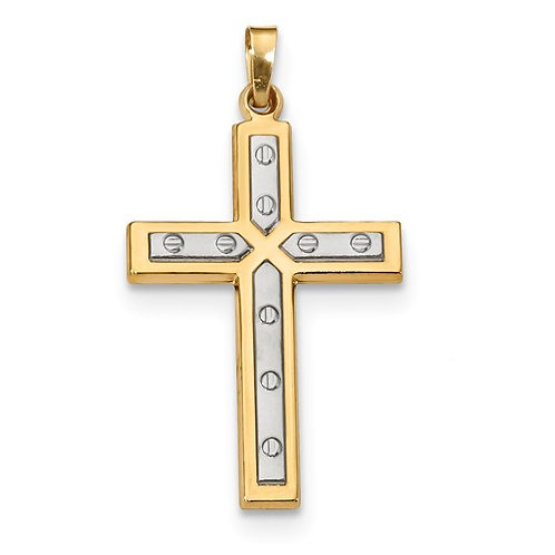 14kt Latin Cross, Satin and Polished Design