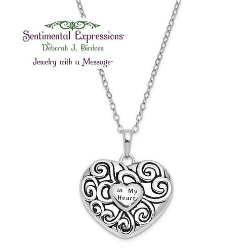 Sentimental Expressions® Ash Holder: in Your Heart