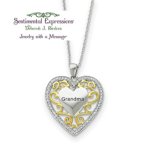 Sentimental Expressions® Pendant: To My Grandma