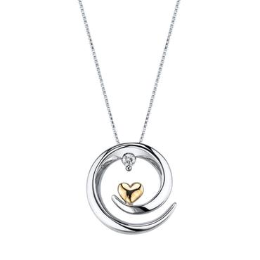 Arms of Love Diamond Pendant 1/20ctw