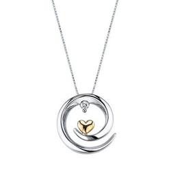 Arms of Love Diamond Pendant 1/20ctw