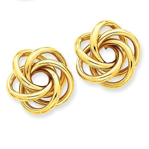 14kt Gold Love Knot Posts, Large Polished