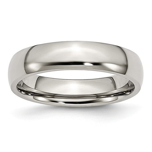 Stainless Steel Half-Round Band, Polished