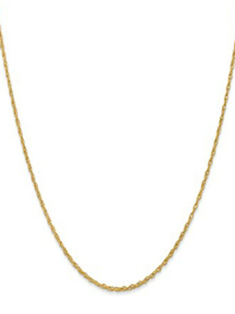 14kt Yellow Gold Baby Rope