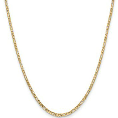 14kt Chain, Yellow Gold Figaro (3+1) Link