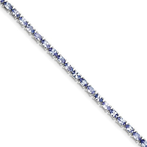 "Sterling Bracelet, 8.43ct Genuine ""AA"" Tanzanite"