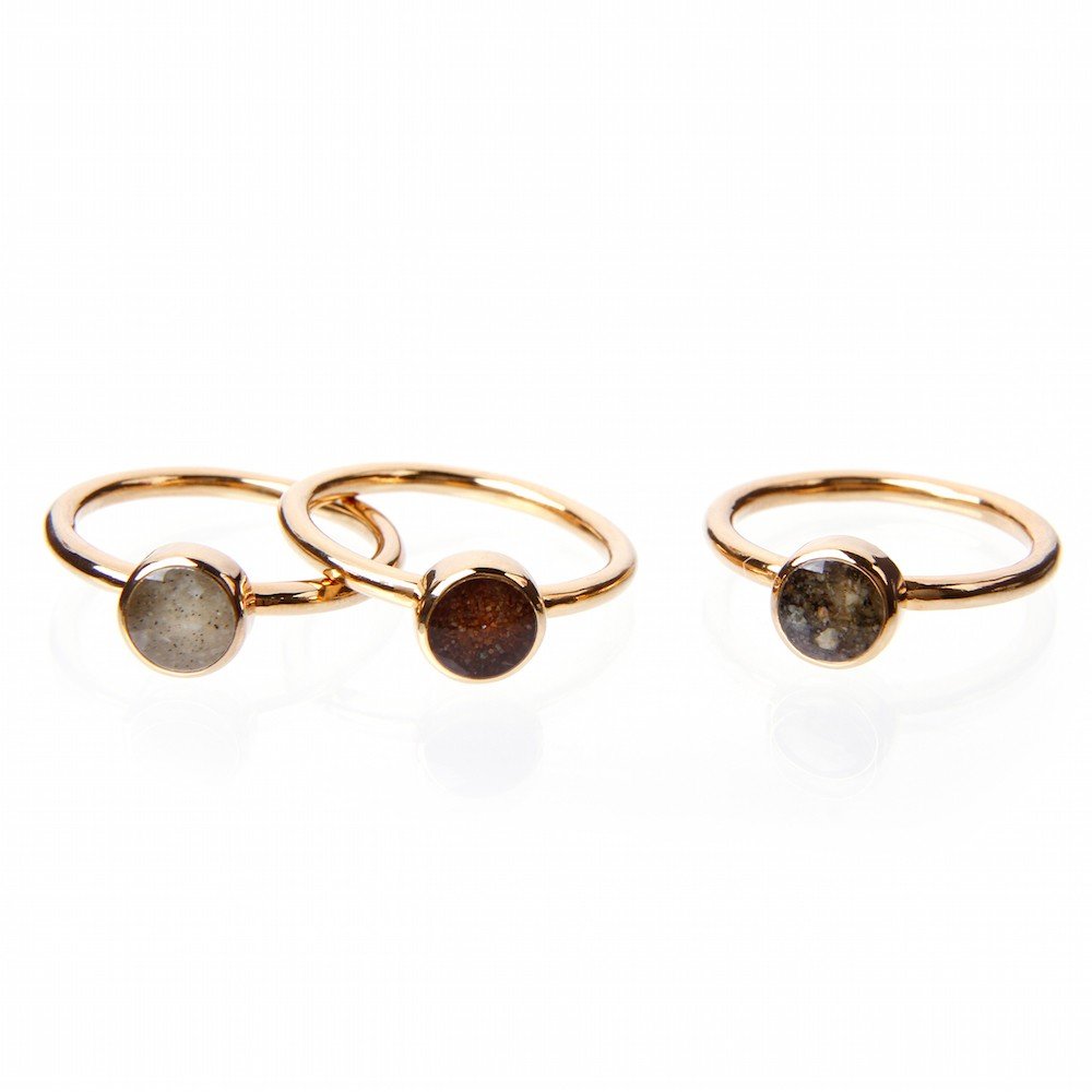 Gold Overlay Stacker Rings