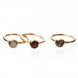 Gold Overlay Stacker Rings