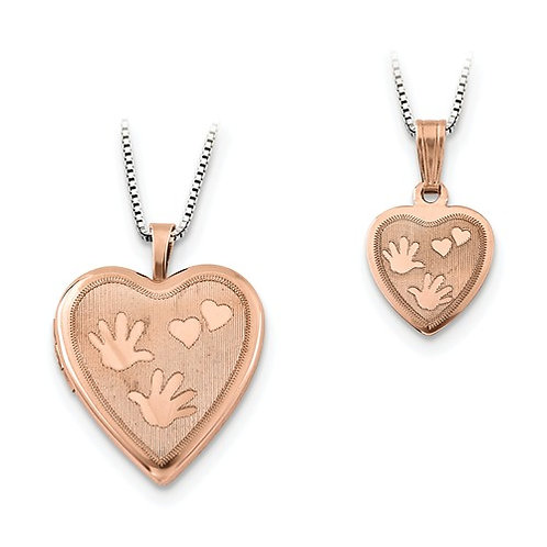 "Heart Lockets, Sterling Silver ""Just Like Mommy""© Set"