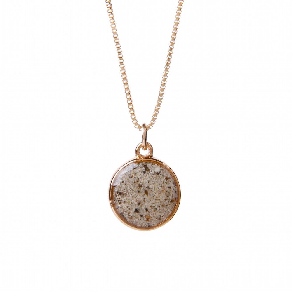 Gold Overlay Sandglobe Necklace