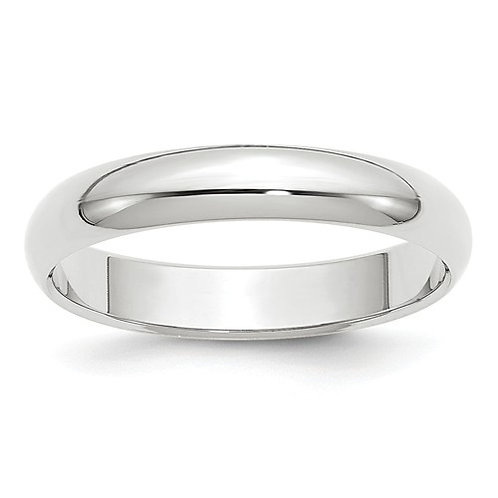 14kt White Gold Half Round Band