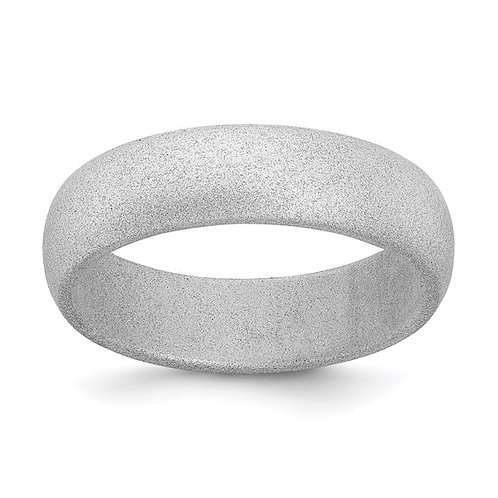 Silicone Band, 5.7mm Wide, Domed