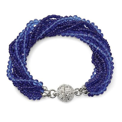 Austrian/Czech Crystal Glass Bead Bracelet