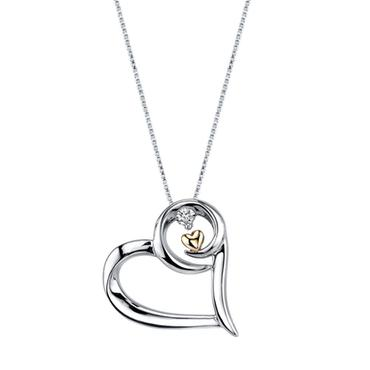 Arms of Love Diamond & Heart Pendant