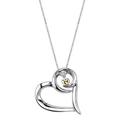 Arms of Love Diamond & Heart Pendant