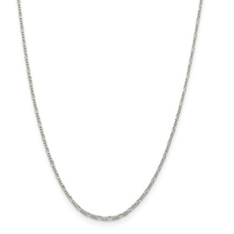 Sterling Silver Pendant Chain, 1.50mm Figaro
