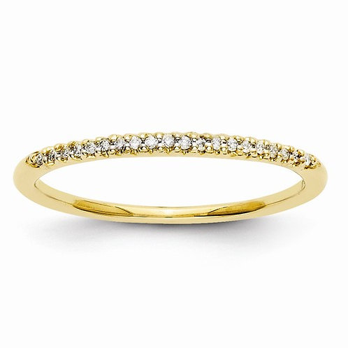 14kt Diamond Band, 1/20ct Total Weight