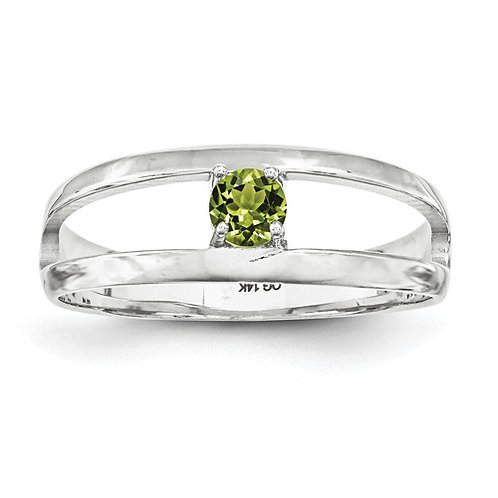 1-Stone Mother's Ring, 14kt White Gold, Genuine