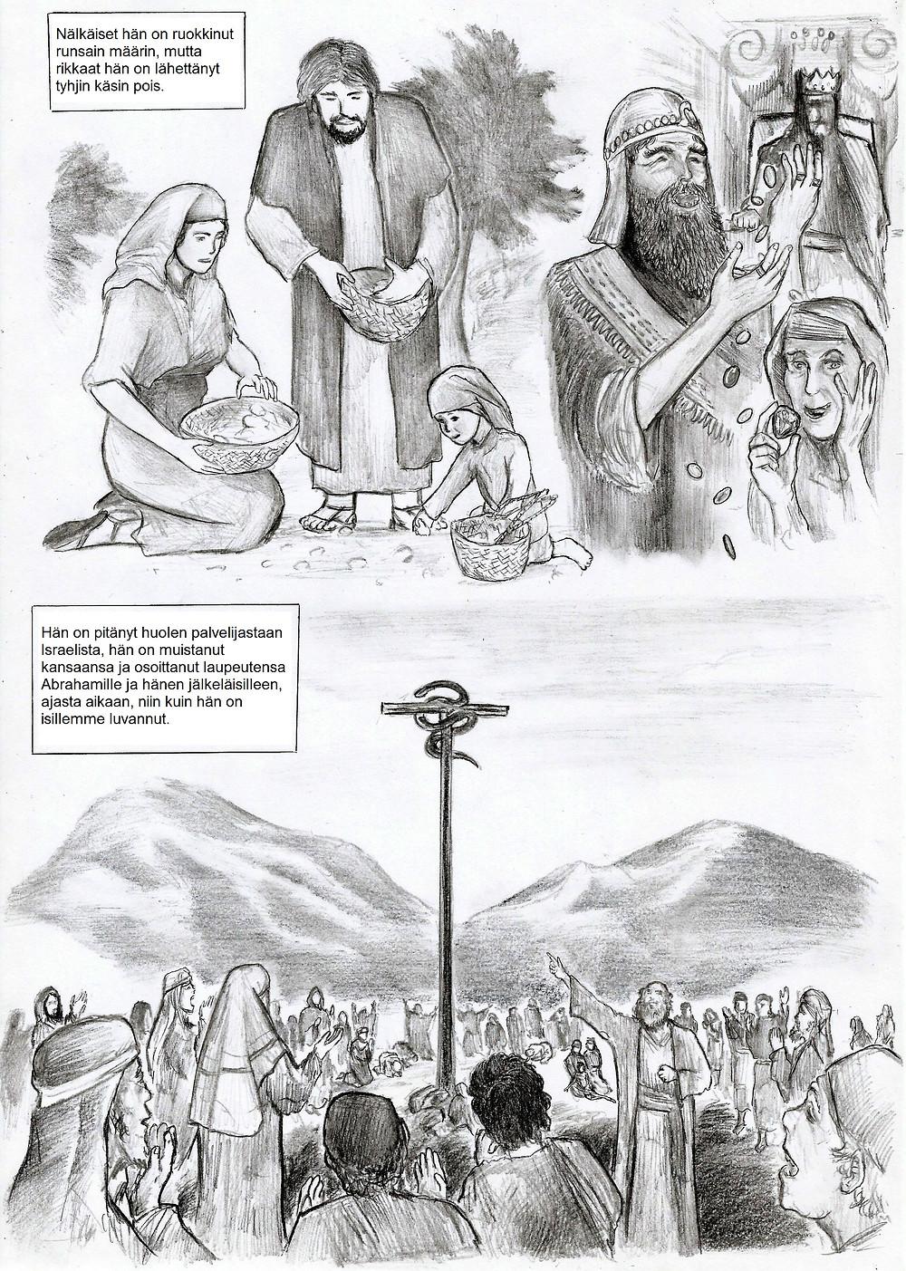 Kiitosvirren mukaan Herra pitää huolta nälkäisistä, palvelijoistaan sekä kansastaan.