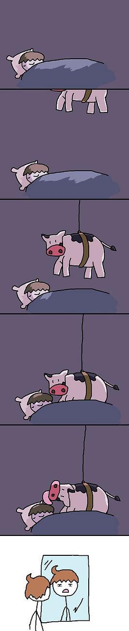 Cow Lick cartoon