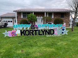 Teal Diamond Happy Birthday Set Elizabethville, PA Yard Sign Rental