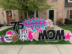 Happy Birthday Mom Harrisburg, PA yard sign rental