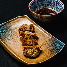 Gyoza with crispy shrimp