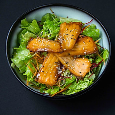 Honey salmon salad