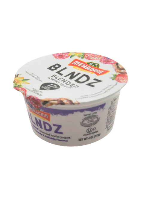 Mehadrin  Mixed Berry  BLNDZ Low Fat Yogurt 4oz