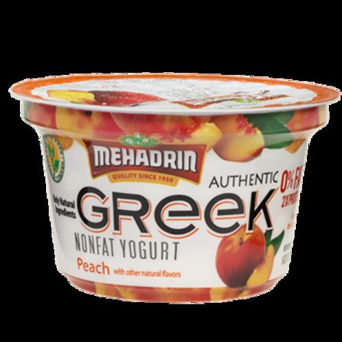 Mehadrin  Peach  Greek Yogurt 6oz