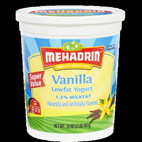 Mehadrin  Vanilla  Yogurt 32oz