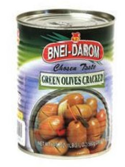 Bnei Darom Cracked Olives 19.7 oz.