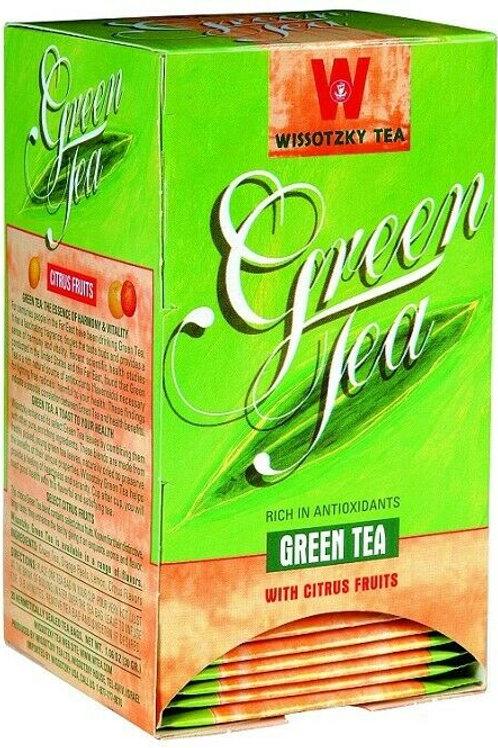 Wissotzky Green Tea With Citrus