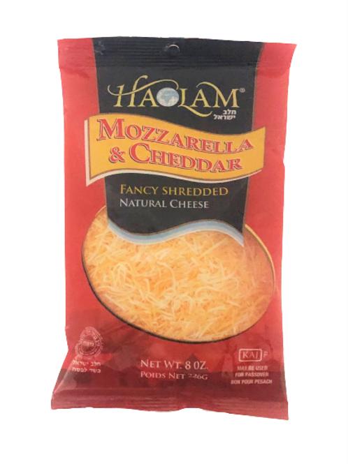Haolam Mozzarella&Cheddar Fancy Shredded 8oz