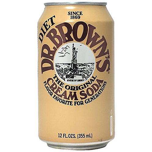Dr Brown Cream Soda Diet 12oz