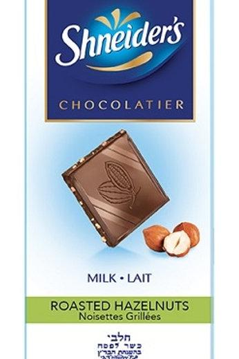 Shneider's Milk Chocolate with Roasted Hazelnuts 3.5 oz.