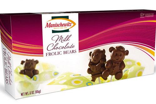 Manischewitz Frolic Bears Milk Chocolate 3oz