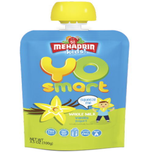 Mehadrin  Vanilla  Yo Smart Yogurt Pouch  3.5oz