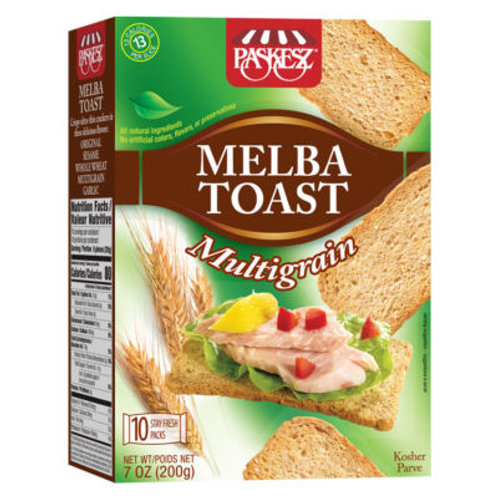 Paskesz Melba Toast Multigrain 7oz