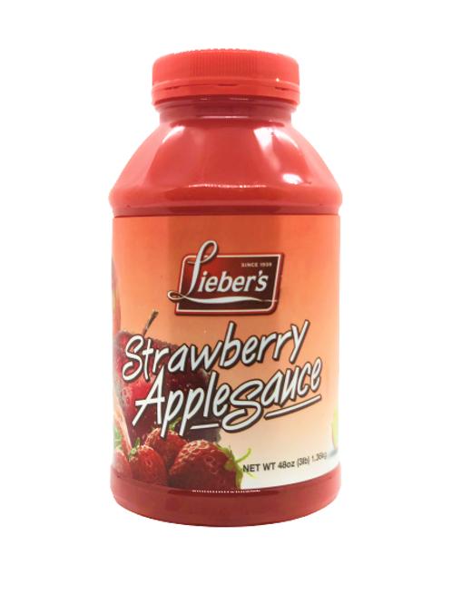 Lieber's Strawberry Apple Sauce 48 oz.