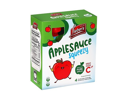 Lieber's Apple Sauce Pouches(Sweeteend) 4/3.15 oz.