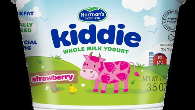 "Norman's Kiddie Whole Milk Yogurt ""Strawberry"" 4 Oz."