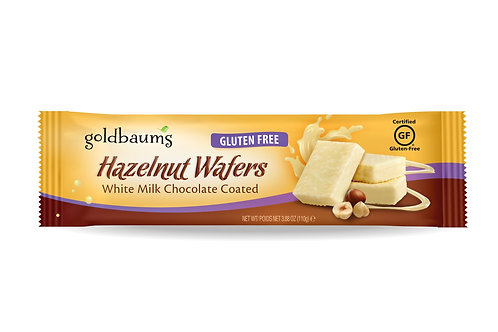 Goldbaums White Chocolate Coated Hazelnut Wafers 3.88 oz.