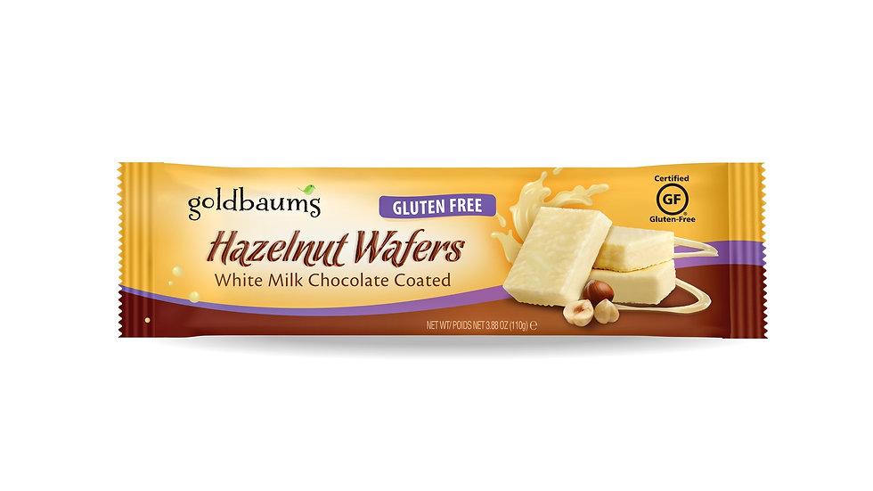 Goldbaums White Chocolate Coated Hazelnut Wafers 3.88 oz.