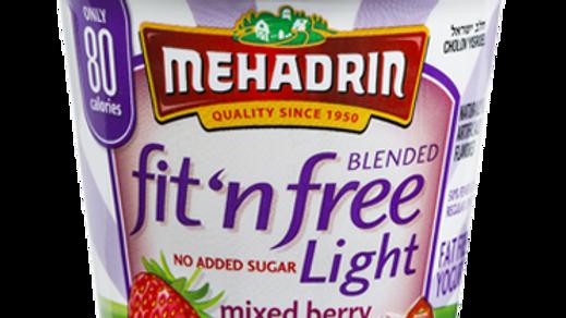 Mehadrin  Mixed Berry  Fit 'n' Free Yogurt 6oz