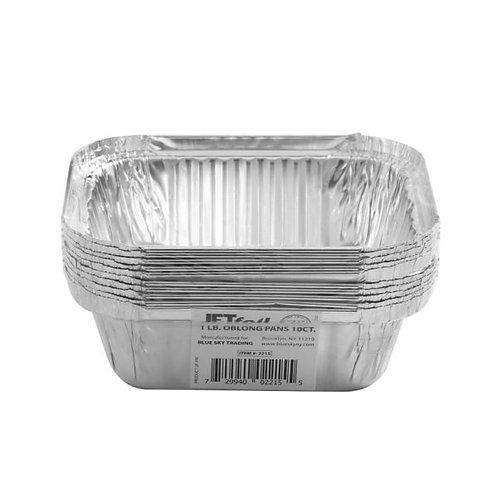 1Lb Oblong Alumin Pan 10ct