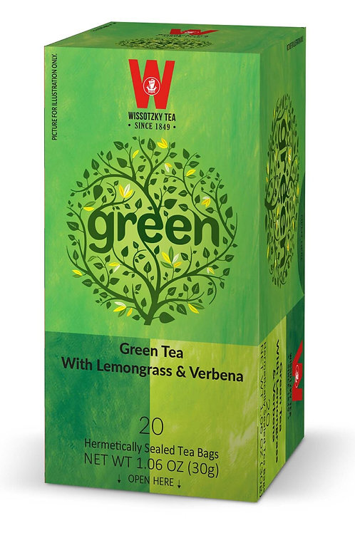 Wissotzky Green Tea W/Lemongrass & Verbana