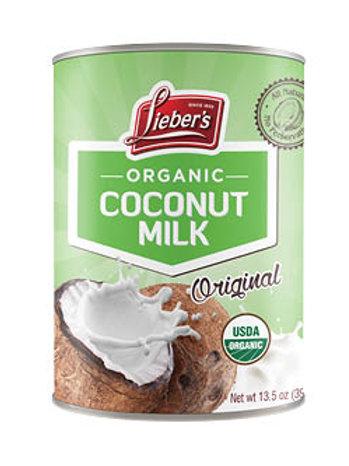 Lieber's Organic Coconut Milk 13.5 oz.