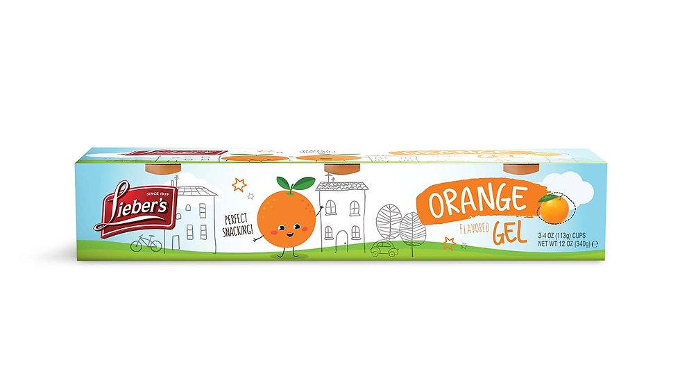 Lieber's Orange Jel Cups 2 - 4 oz